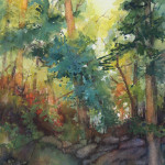 Susan Shaw, Woodlands, watercolor