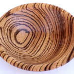 Richard Heines, Jr., African zebra wood bowl